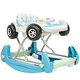 Lauflernhilfe und Babywippe Car 2 in 1, Spielcenter Auto, Musik, verstellbar (Blau)