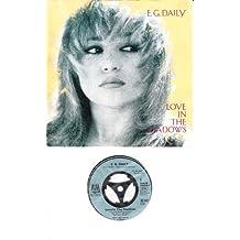 """DAILY, E.G. / Love In The Shadows / Little Toy / 1985 / Bildhülle / A&M RECORDS # 390078-7 / Deutsche Pressung / 7"""" Vinyl Single Schallplatte"""