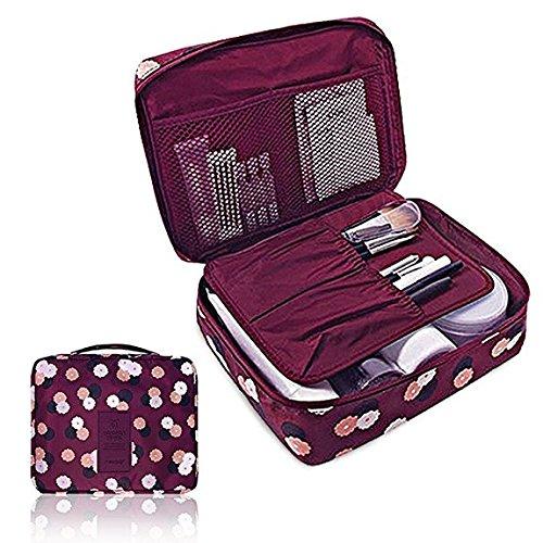 Caso dell'organizzatore sacchetto dei bagagli Imballaggio del sacchetto di trucco cubo viaggio per toeletta e cosmetici (Blu) (porpora)