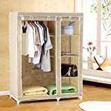 #7: Shree Shyam Kripa_FOLDING WARDROBE ALMIRAH NON WOVEN FABRIC A-2 LIGHT AND TRENDY Cream Color