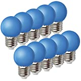 1W E27 Bombilla Bombilla de Color Ahorro de Energía Color Bombilla LED 80LM...