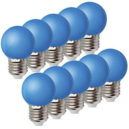 10per-pack Farbige Leuchtmittel LED 1W E27 G45 Birne Beleuchtung Glühbirne Leuchtmittel für Partybeleu chtung Biergartenbeleu chtung (Blau)