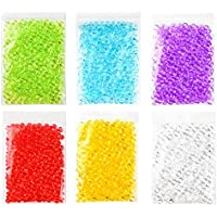 Swallowzy Fishbowl Beads Glitter para Slime, 6 Pack Handcraft Jarrón Full Beads Multicolor, DIY Art Craft para Homemade Slime, Wedding y Party Decoration