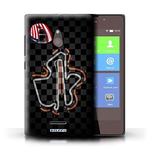 Kobalt® Imprimé Etui / Coque pour Nokia XL / Belgique/Spa conception / Série 2014 F1 Piste Malaisie/KualaLumpur