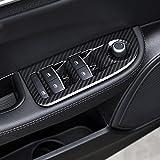 4x Carbon Faser für Giulia 201620172018ABS Chrom Fenster Lift Schalter Button Rahmen, Rand Aufkleber Zubehör