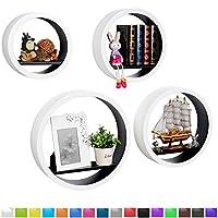 Le nostre mensole hanno molti colori per scegliere, un design moderno e semplice è adatto alla cameretta, studio, cucina, ufficio, ristorante, ecc.Le mensole forniscono uno spazio per mettere i libri, CD e gli altri piccoli oggetti.Con una me...