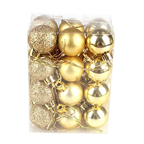 My Party Suppliers Plastic Christmas Tree Ball Ornament (Golden)