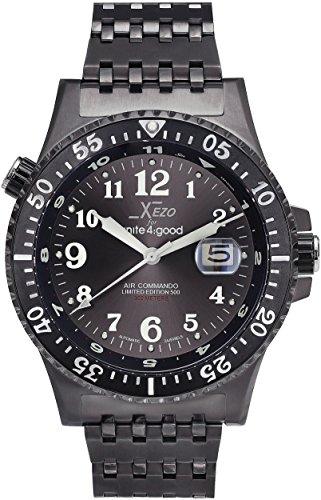 Xezo für Unite4:Good Air Commando-Uhr (Automatik), Schweizer Saphirglas und Citizen-Uhrwerk, 30 ATM, Serie (Solar-day-date-uhr)