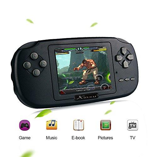 Game console xinxu 2.8 pollice lcd pvp plus ricaricabile gioco portatile game handheld costruito nel 168 gioco come regalo per bambini amici nero