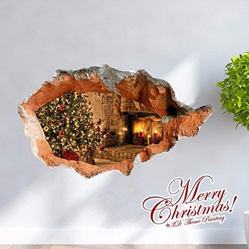 Weihnachts-Dekoration für Halloween Creative/3D/3D-malerei Aufkleber/Wohnzimmer/cartoon Zimmer/Schlafzimmer/Kinder/Animation/dekorative Malerei/Weihnachtsgeschenk (58 * 98,8 cm)