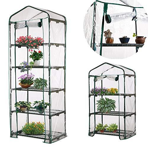 genialkiki Gewächshauszelt mit Eisenständer Atmungsaktivität PVC Korrosionsbeständige Anti-UV-Anlage Gewächshausabdeckung Für Gartenpflanzen Indoor Outdoor