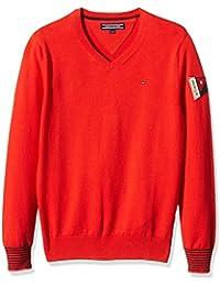 TOMMY HILFIGER KIDS Badge VN Sweater L/S, Jerséi para Niños, Rojo, 8