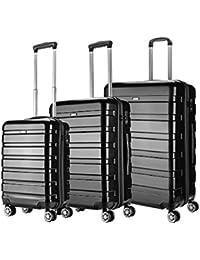 Amasava Valise Transport Bagage Cabine Valise en PC Ultra léger 5 Couleurs Valise Rigide 4 roulettes Double multidirectionnelles 43L/55CM,65L/65CM,101L/75CM,65L/65CM,101L/75CM
