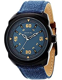 Golden Bell Original Blue Dial Blue Denim Strap Analog Wrist Watch For Men And Boys - PGB-836
