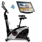 Hop-Sport Ergometer HS-090H Heimtrainer Bluetooth 4.0 Smartphone Steuerung Schwungmasse 13 kg Silber