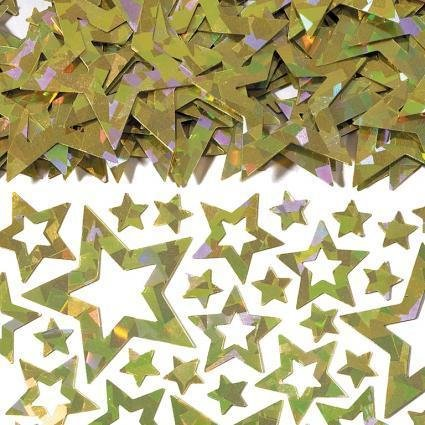 Amscan International Konfetti, Sterne, schimmernd, goldfarben