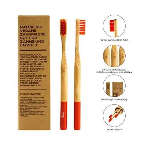 Amazy Bambus Zahnbürste (3 Stück) - 2