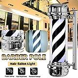 NCCTRW NCCTRW 71CM LED Barber Pole Weiß Schwarz Rotating Illuminating Stripes Wasserdichtes Licht Hair Salon Shop Sign Wandleuchte
