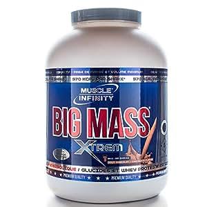 BIG MASS XTREM 2 kg Muscle Infinity Spécial Prise de masse - vanille