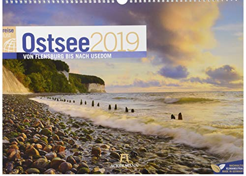 Ostsee ReiseLust 2019, Wandkalender im Querformat (45x33 cm) - Reisekalender Meer und Küste mit Monatskalendarium par Ackermann Kunstverlag