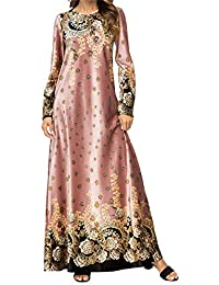 Qianliniuinc Vestiti Taglie Forti Maxi Dress-Lunga Abiti Femminili Abaya  Islamico Kaftano Donna Caldo Arabo 4ba7178d599