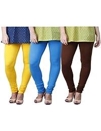 Limeberry Women's Cotton Legging Pack of 3 (LB-3PCK-LEGG-CMB-4_Multicolor)