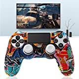 ATuniby Silikonh¨¹lle f¨¹r PS4 Controller mit 2 wei?en Joystickkappen Bumping Design f¨¹r Gamer M?nner Geschenk Octopus Pattern