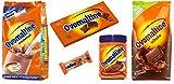 Crème croustillante à l'essai Ovomaltine, barres Ovolino, barre de chocolat, poudre de chocolat, poudre classique Ovaltine