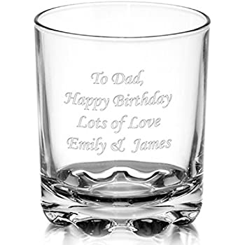 a20e4355b23 Personalised Whisky Glass- Birthday or Wedding gift with free engraving