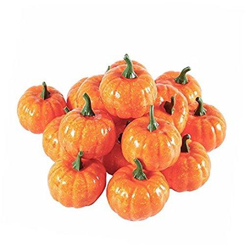 Wady 12pezzi artificiale fall harvest mini zucche per halloween decorazione domestica
