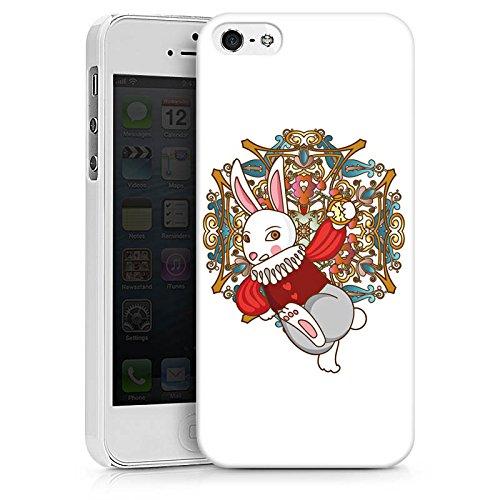Apple iPhone X Silikon Hülle Case Schutzhülle Hase Bunny Rabbit Hard Case weiß