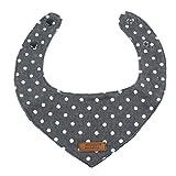 FITYLE Vintage Hundehalstuch Dreieckstuch Hunde Halsband Bandana Tuch Halstuch für Hund, Katze und Welpe - Grau, M