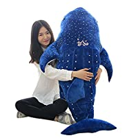 Bonways 75cm Large Baby Cute Super Soft Plush Stuffed Whale Shark Dolphin Pillow Dolls Toys Kids Chilren Lovers Gifts
