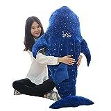 Bonways 75cm großes, süßes, superweiches Plüschkissen, gefüllt, Wal, Hai, Delphin, für Kinder oder als Geschenk für einen lieben Menschen.