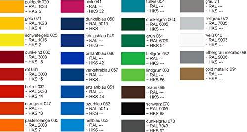 Schlauchboot-Beschriftung bis insgesamt 16 Zeichen Kennzeichen 10 cm freie Farb- und Schriftwahl -