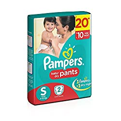 Pampers Baby Small Size Dry Pants (2 Count)