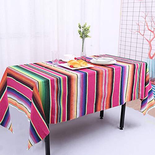 Zdada Designs mexikanischen SARAPE Decke 145x180cm Colorful Outdoor Baumwolle Reise SARAPE Decke mexikanischen Stripe Red Mexican (Mexikanische Vorhänge Decke)