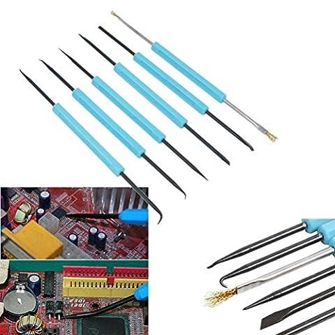 Igemy 6pcs 17cm utile Professional Assist Démontage fer à souder Outil de réparation de kit bleu