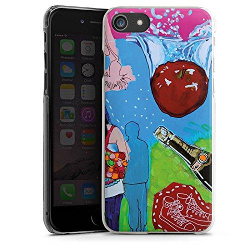 Apple iPhone X Silikon Hülle Case Schutzhülle Menschen Apfel Flasche Hard Case transparent