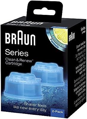 Braun Clean & Renew CCR3afeitadora eléctrica cartuchos de recambio–Pack de 3