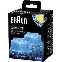 Braun Clean & Renew Cartucce di Ricarica CCR, Confezione da 2