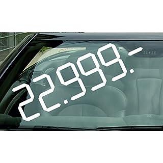 30 Stück AUFKLEBER FÜR AUTOHÄNDLER / AUTOHÄUSER selbstklebende Digitalklebeziffern (30x8cm groß, schwarz)
