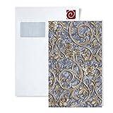 Tapeten Muster EDEM 9016-Serie | Barock Tapete mit floralen Ornamenten und metallischen Akzenten, S-9016-XX:S-9016-37