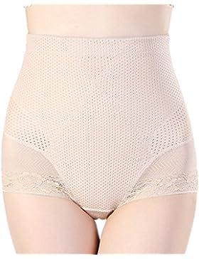 Ropa Interior De Alta Cintura De Las Mujeres Pantalones De Encaje Sexy Sin Costuras Pantalones De Cintura Abdomen...