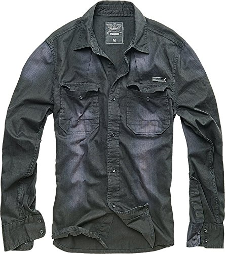 brandit-hardee-denim-chemise-noir-taille-s