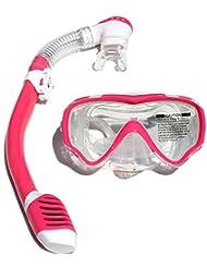 Enfants de plongée masque tuba de plongée, plongée masque de natation pour enfant, Rose