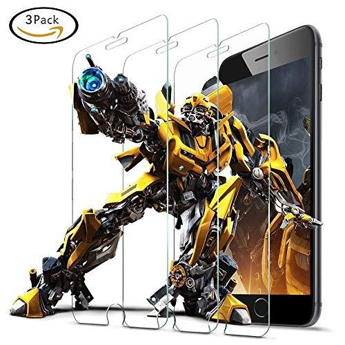 9HDClear Panzerglas Schutzfolie für iPhone 6/iPhone7/iPhone8 [3 Stück] HD Ultra-klar Displayschutzfolie für iPhone 7/8/6/6S Anti-Kratzer Anti-Bläschen (4.7 Zoll)