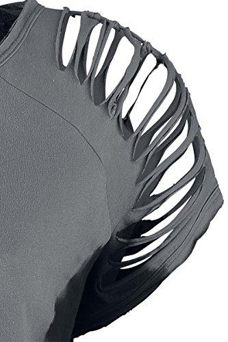 Black Premium by EMP Shreds Girl-Shirt Grau/Schwarz Grau/Schwarz