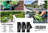 150 Gramm/m² Unkrautvlies, Gartenvlies 1,5 x 25 m (37,5 qm)