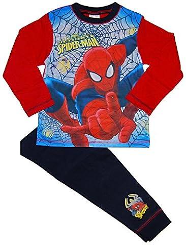 Spiderman Marvels - Ensemble de pyjama - Garçon rouge Blue / Red / Multicoloured Taille Unique - rouge - 4-5 ans